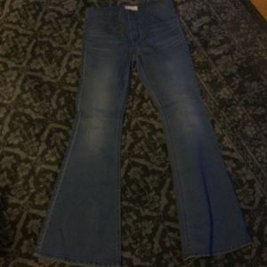 Free People stretch bell bottoms w29